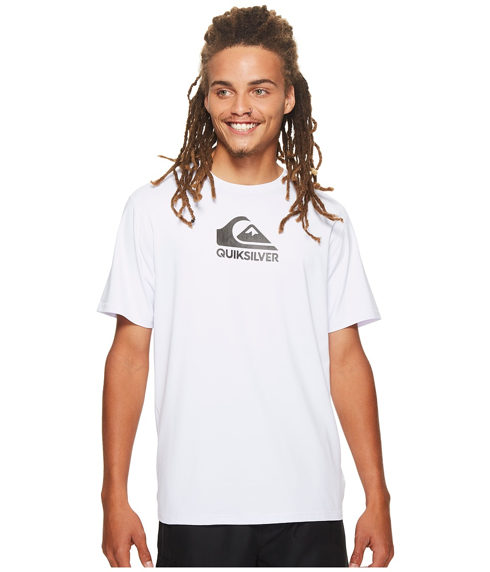 Quiksilver Solid Streak Short Sleeve Rashguard (White) Men