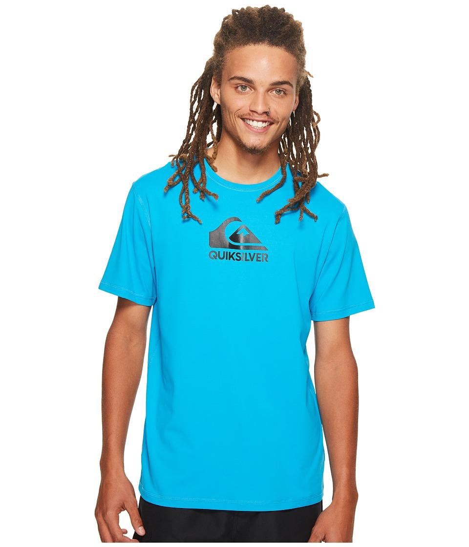 Quiksilver Solid Streak Short Sleeve Rashguard (Blue Danube) Men