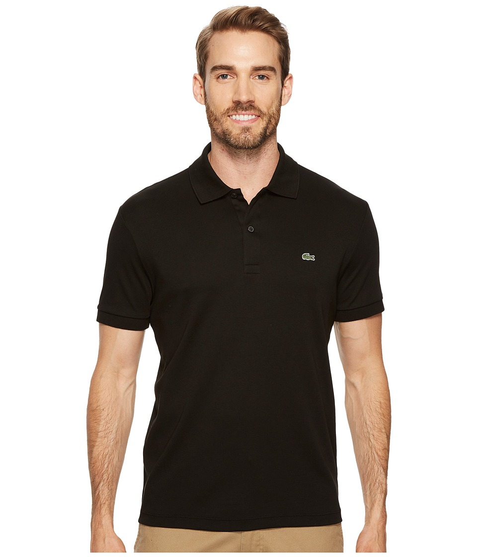 Lacoste - Short Sleeve Jersey Interlock Regular (Black) Mens Clothing