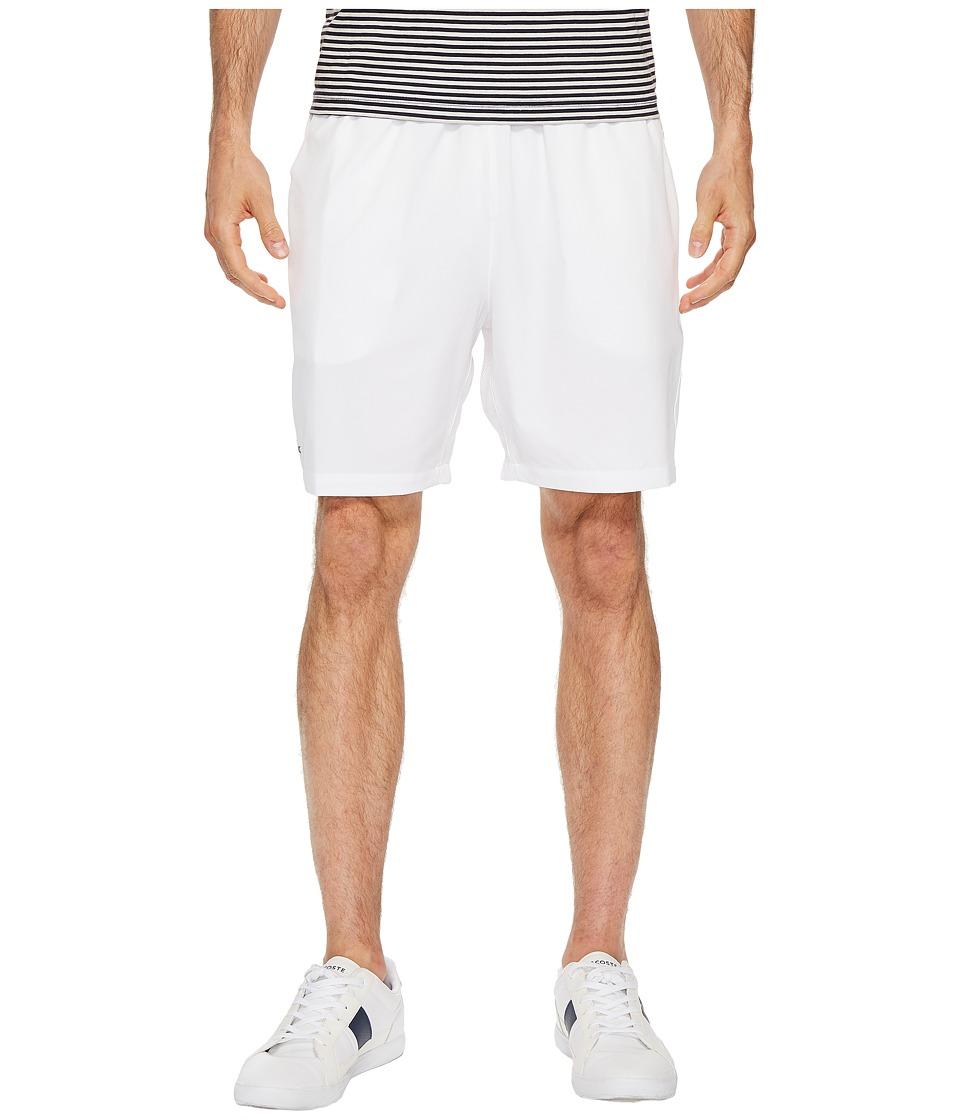 Lacoste - Stretch Taffeta Shorts (White) Mens Shorts