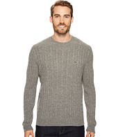 Lacoste - Cable Stitch Wool Sweater with Green Croc - New Cable Pattern
