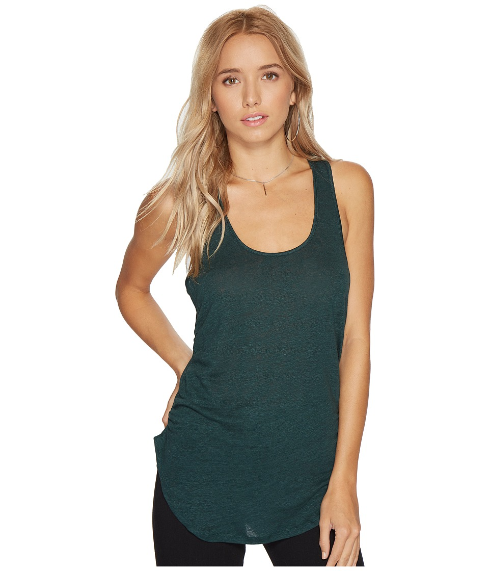 HEATHER - Linen Shirred Side Tank Top