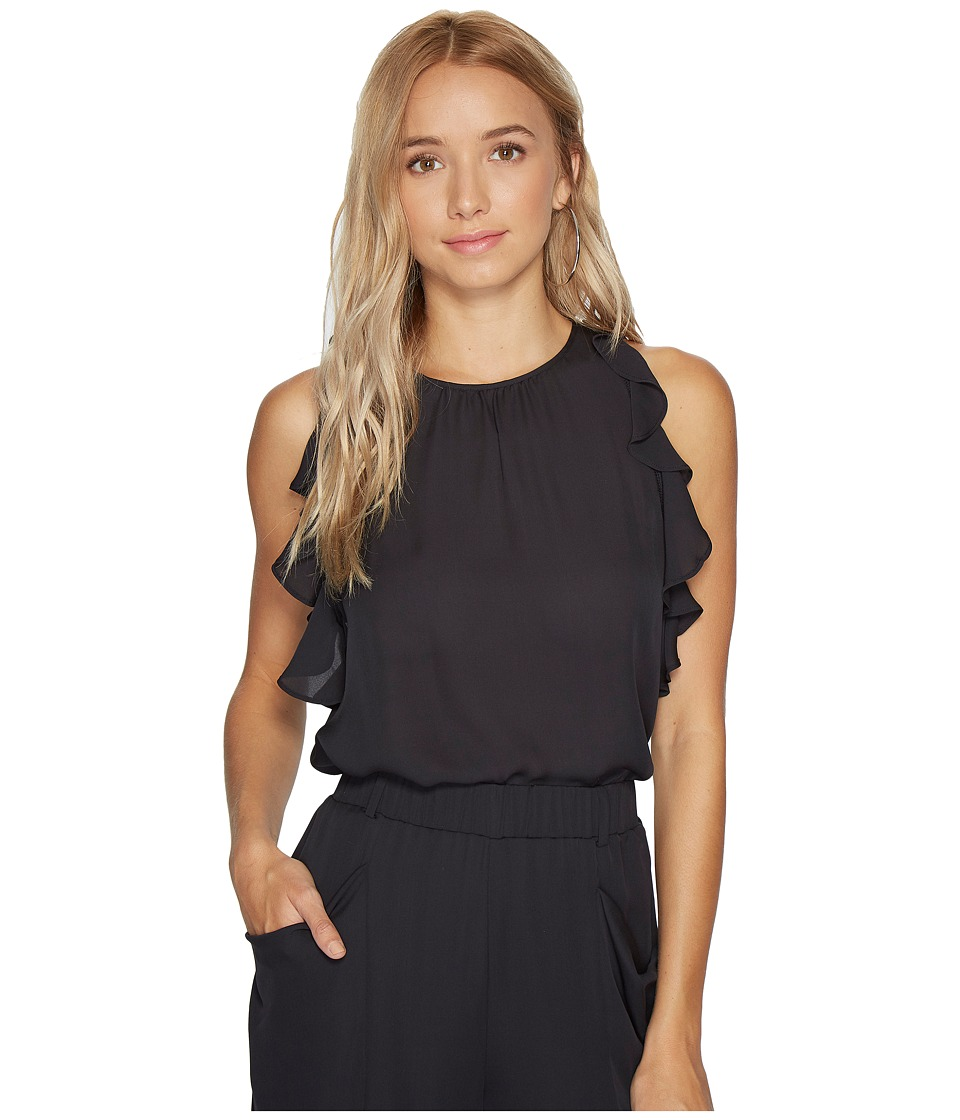 HEATHER - Florence Silk Frill Sleeve Tank Top
