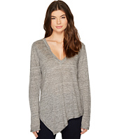 HEATHER - Uma Linen Asymmetrical Long Sleeve Top