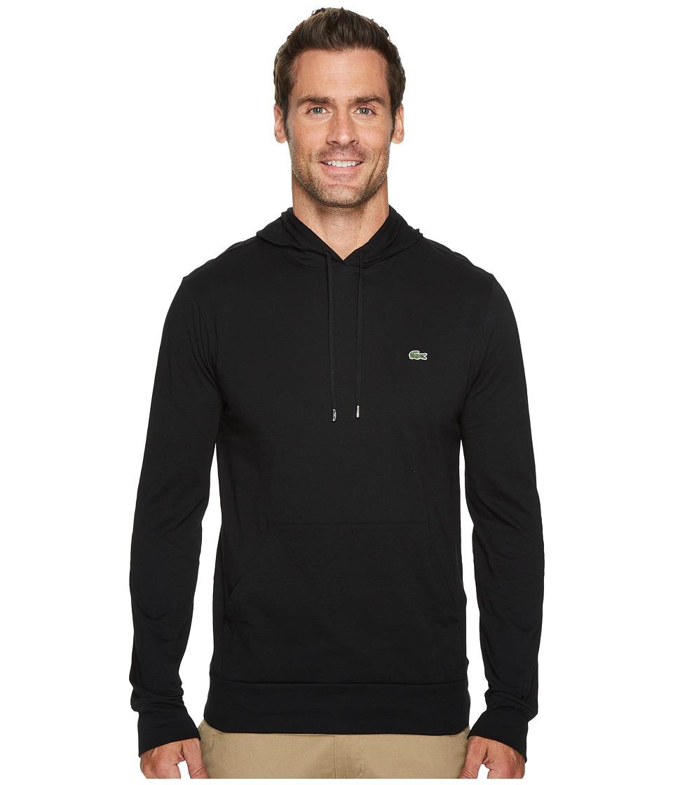 Lacoste - Jersey T-Shirt Hoodie (Black) Mens Sweatshirt