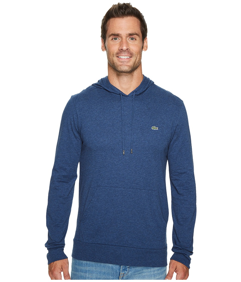 Lacoste Long Sleeve Jersey Hoodie Tee (Anchor Chine) Men