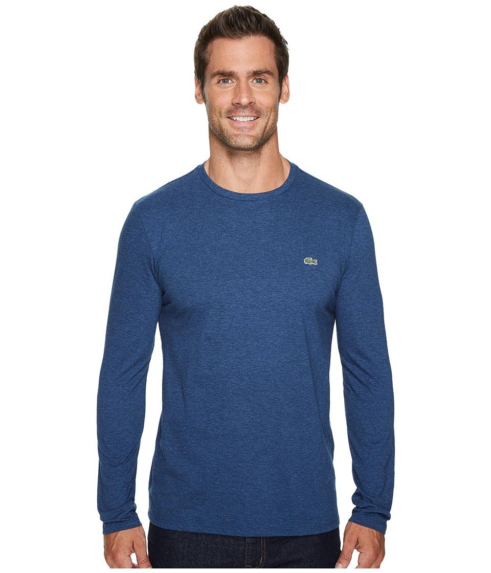 Lacoste Long Sleeve Pima Jersey Crew Neck Tee Shirt (Anchor Chine) Men