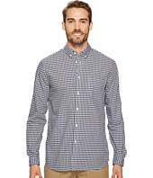 Lacoste - Long Sleeve Button Down with Pocket Gingham Poplin Regular