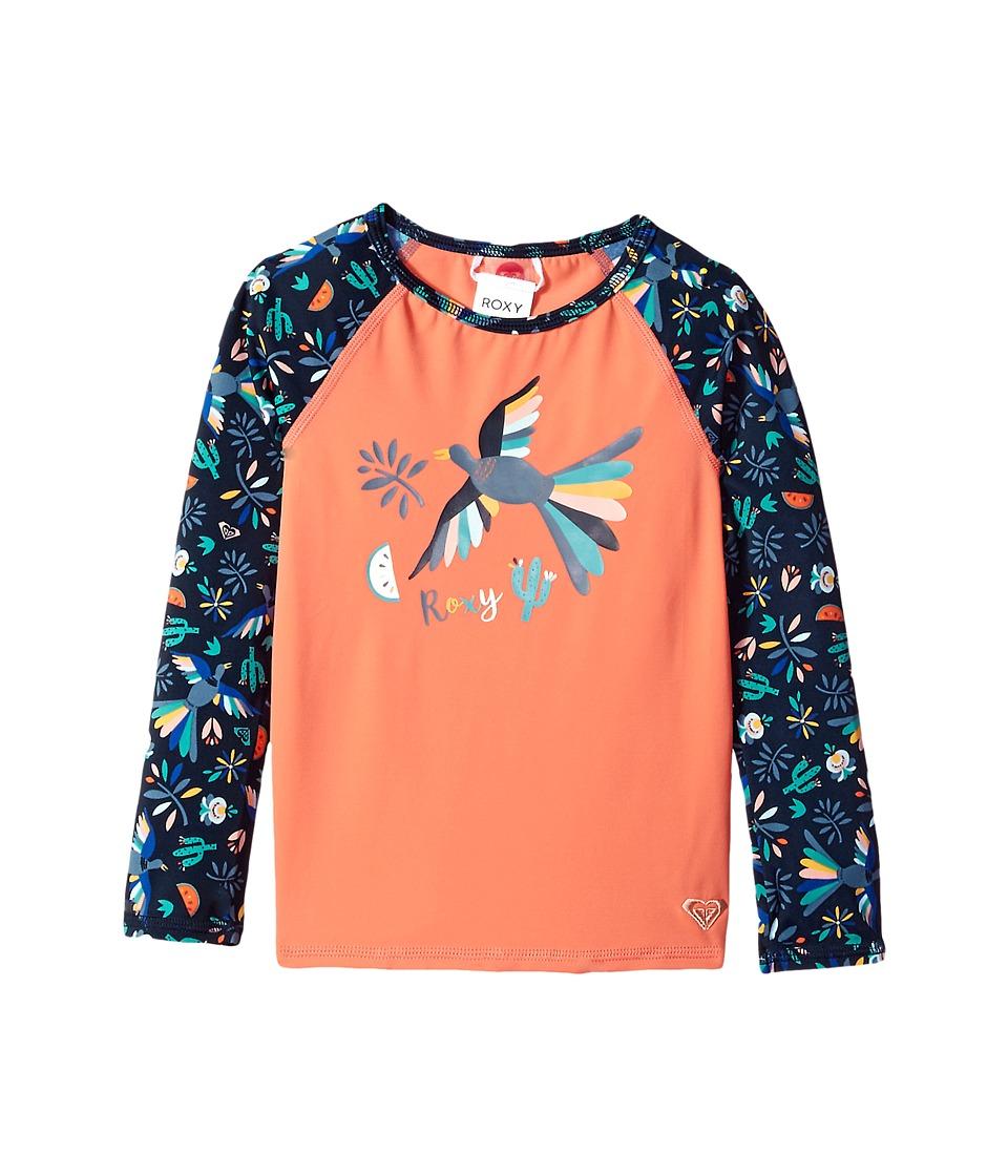Roxy Kids Birdy Fashion Lycra Rashguard (Toddler/Little Kids) (Dress Blue Bird in the Sky) Girl