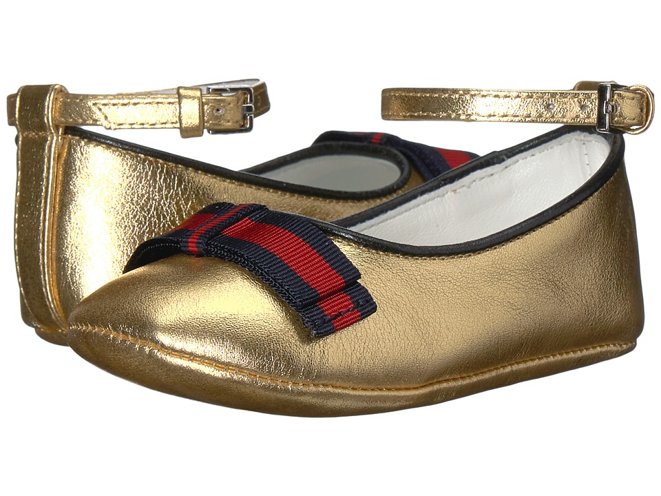 Gucci Kids Baby Cindy Ballerina (Infant/Toddler) (Gold) Girls Shoes