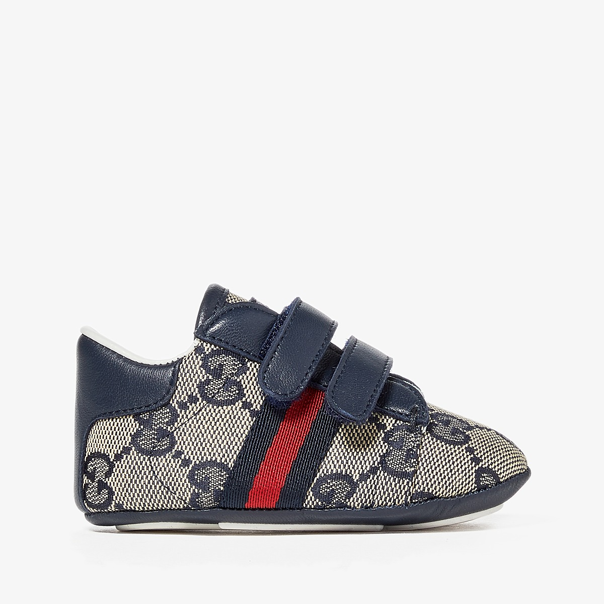 Gucci Kids Baby Ace V.L. Sneakers (Infant/Toddler) (Beige) Kids Shoes