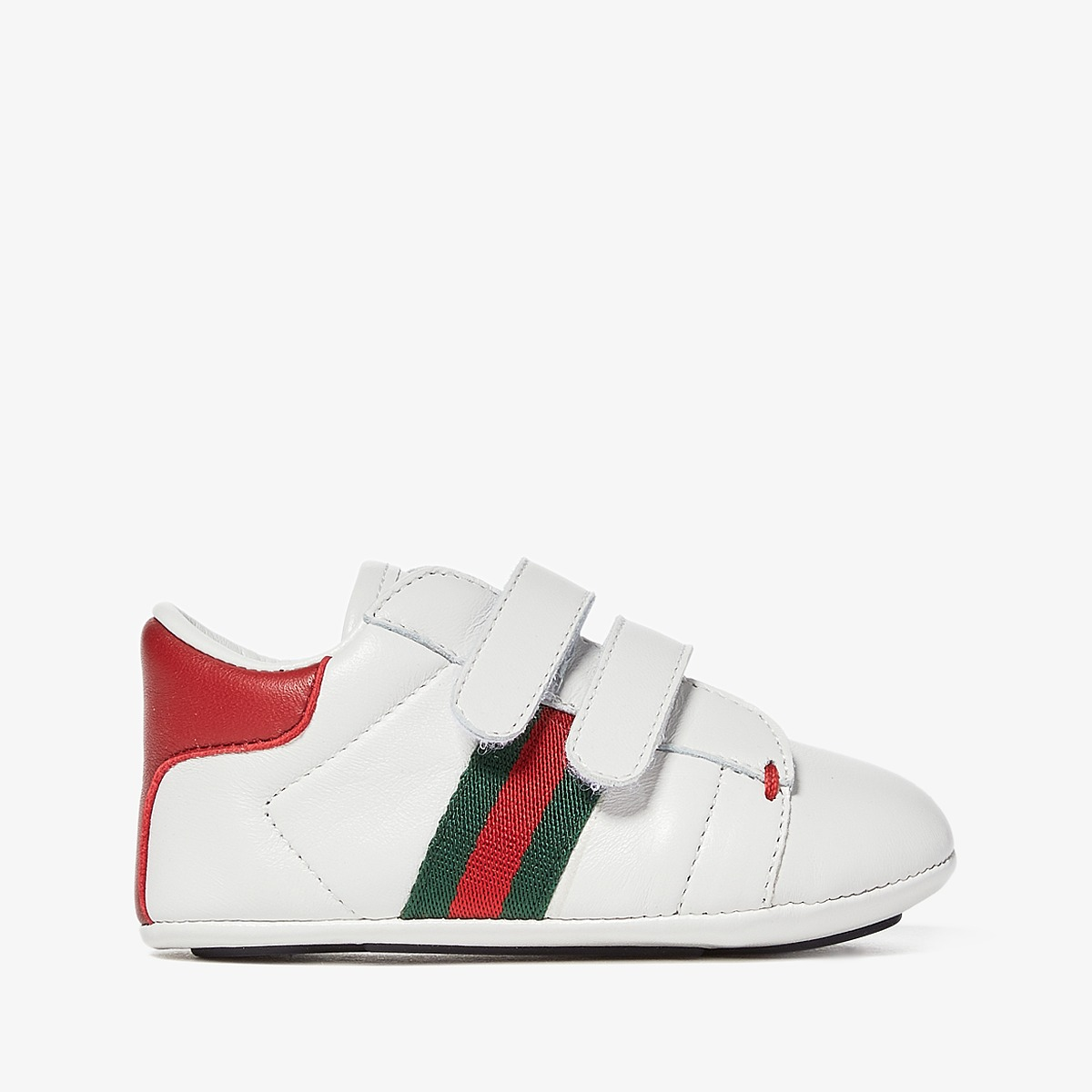 Gucci Kids Baby Ace V.L. Sneakers (Infant/Toddler) (White) Kids Shoes