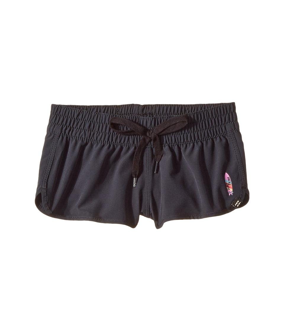 Billabong Kids Sun Faded Volley Shorts (Little Kids/Big Kids) (Black Sands) Girl
