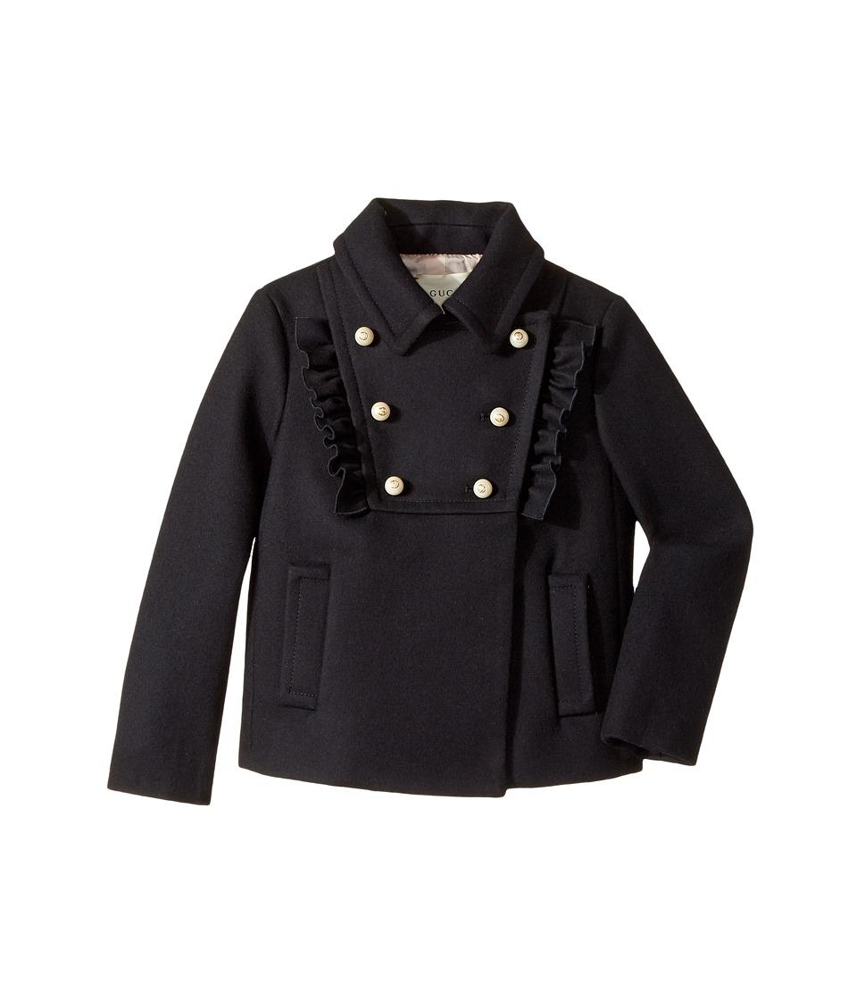 Gucci Kids - Coat 455834XB817 (Little Kids/Big Kids) (Ink) Girls Coat