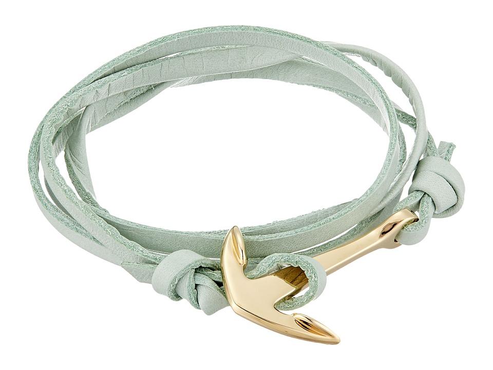 Miansai - Leather Anchor Bracelet (Mint) Bracelet