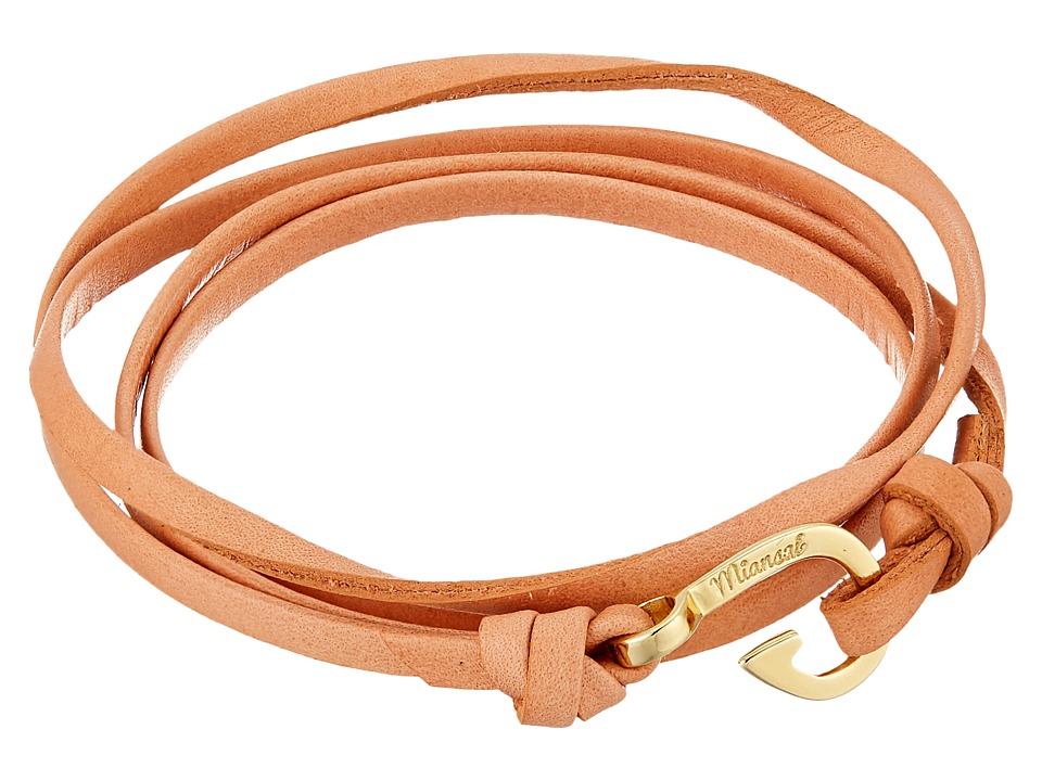 Miansai - Mini Hook Leather Bracelet (Salmon) Bracelet