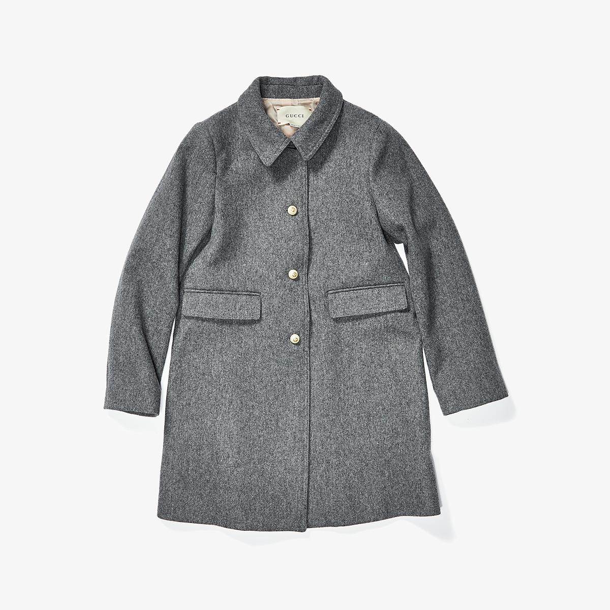 Gucci Kids - Coat 477728XB817 (Little Kids/Big Kids) (Light Grey Melange) Girls Coat