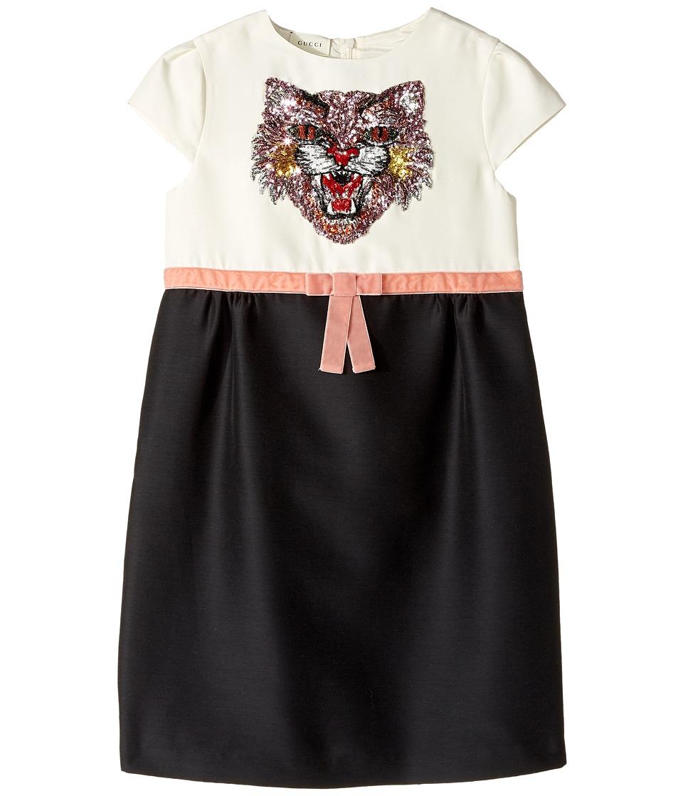 Gucci Kids - Dress 471132ZB378 (Little Kids/Big Kids) (Pearl/Black) Girls Dress
