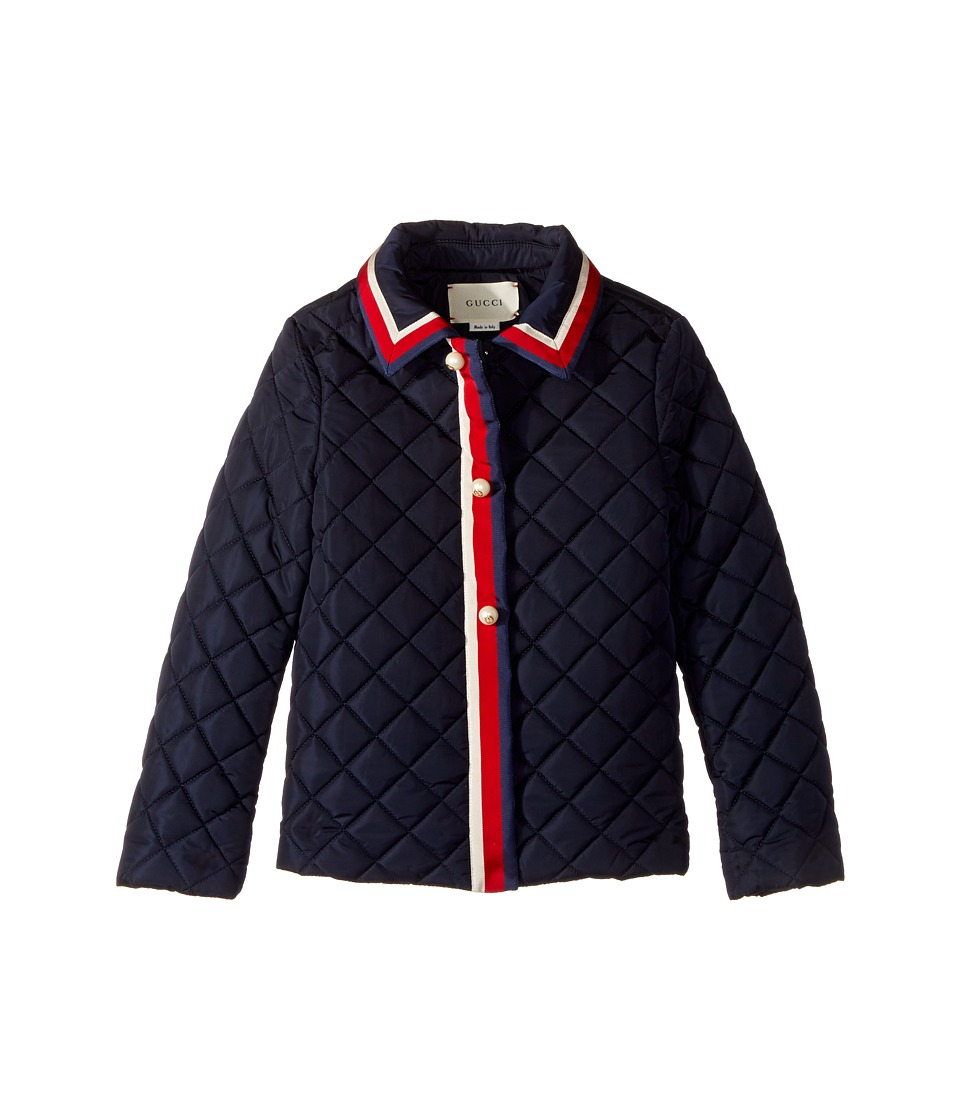 Gucci Kids - Outerwear 477721XBB86 (Little Kids/Big Kids) (Navy/White/Red/Blue) Girl's Coat