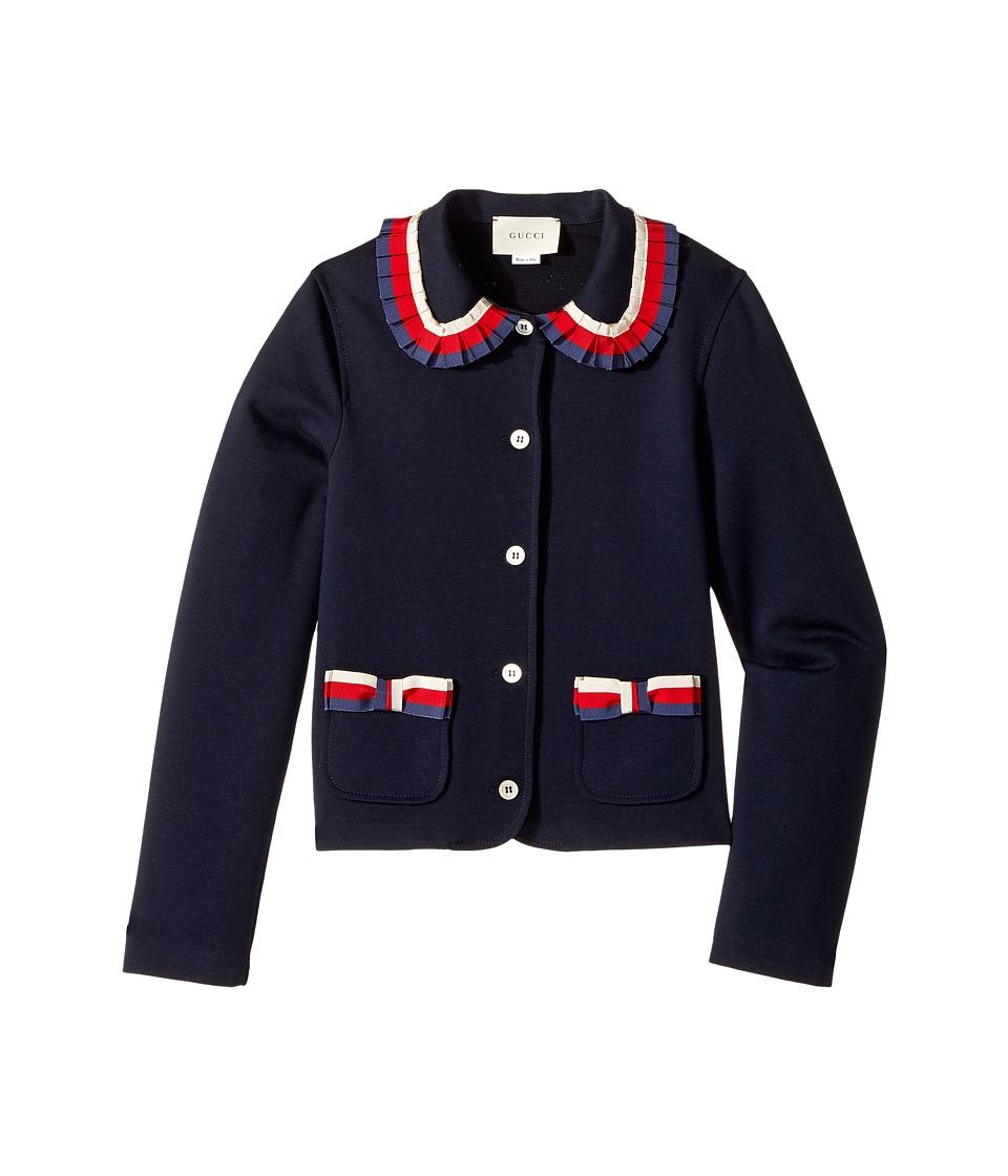 Gucci Kids - Jacket 479420X9A31 (Little Kids/Big Kids) (Ink/White/Red/Blue) Girls Coat