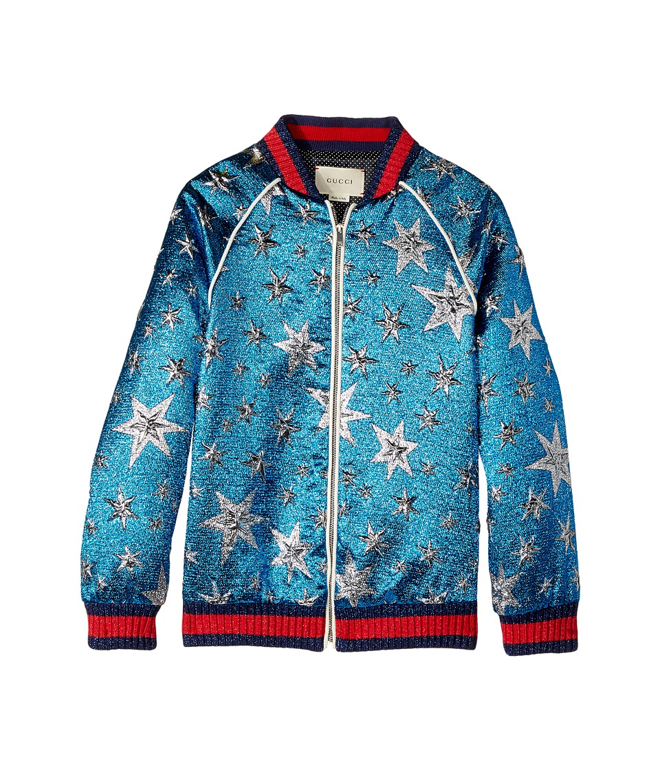 Gucci Kids - Outerwear 477414ZB385 (Big Kids) (Bluette/Silver) Girls Coat