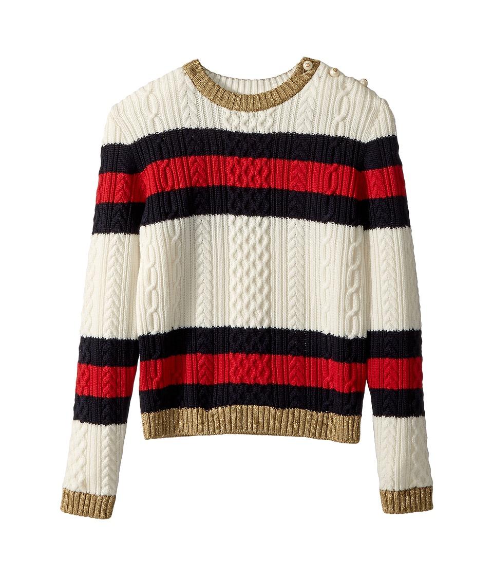 Gucci Kids - Knitwear 478563X9B20 (Little Kids/Big Kids) (White/Blue/Red/Gold) Girls Clothing