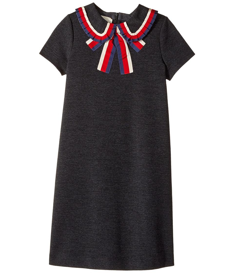 Gucci Kids - Dress 479413X9A39 (Little Kids/Big Kids) (Anthracite/White) Girls Dress