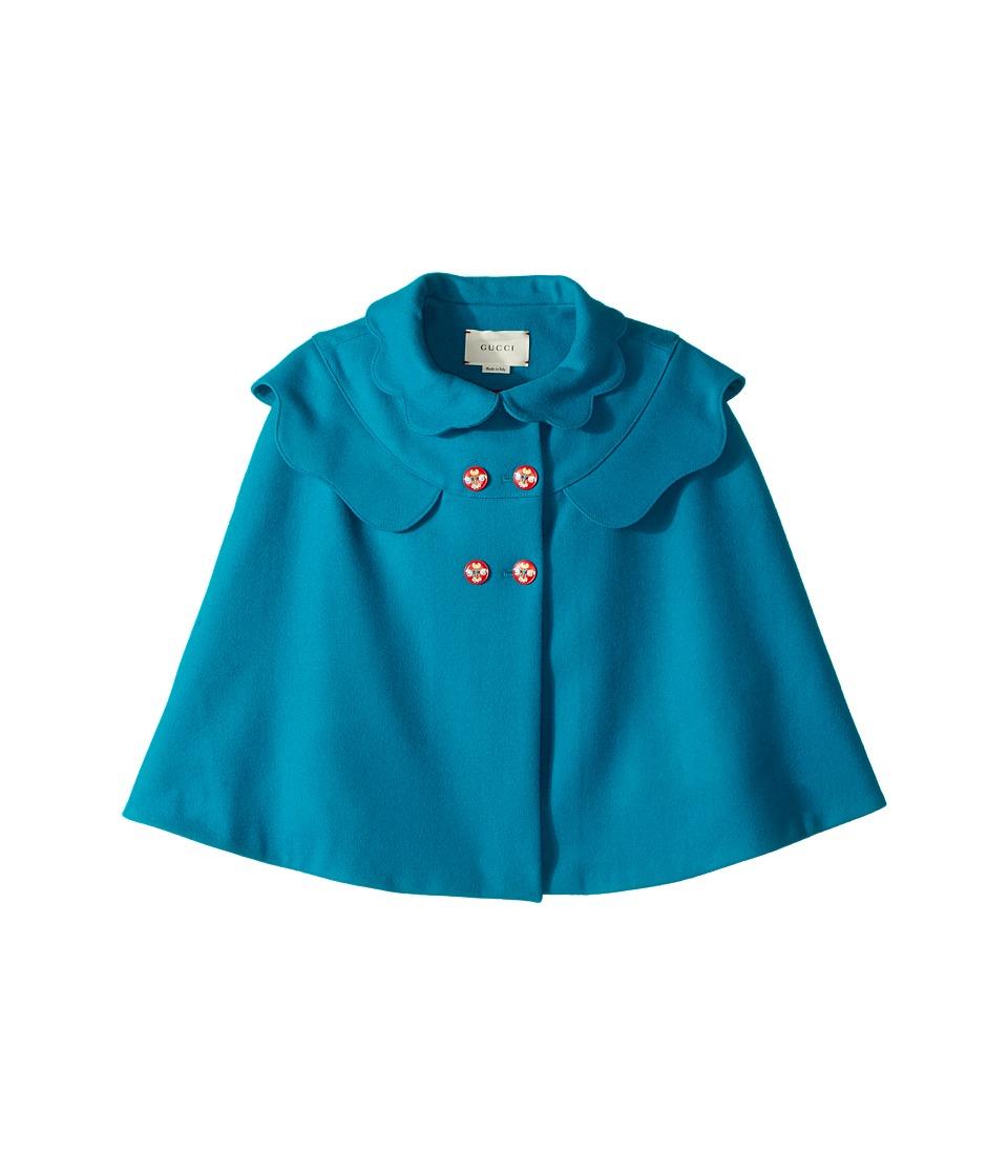 Gucci Kids - Coat 477417ZB810 (Little Kids/Big Kids) (Peacock Turquoise) Girls Coat