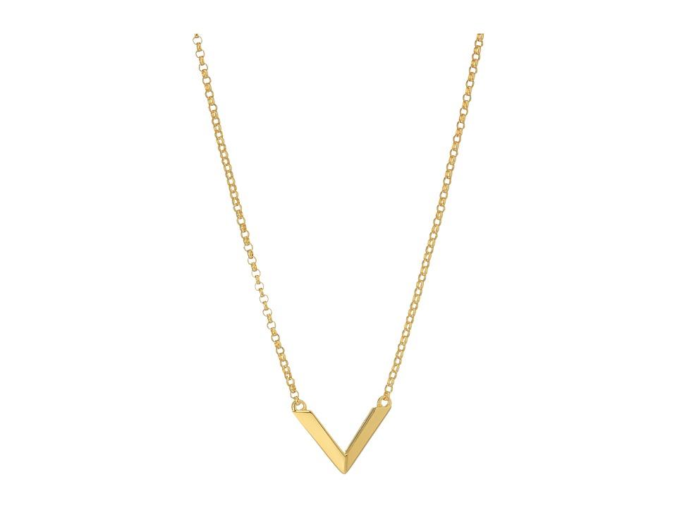 Miansai - Mini Angular Necklace (Polished Gold) Necklace