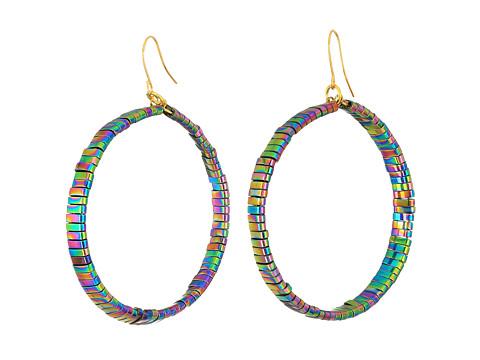 Vanessa Mooney The Skylar Hoops Earrings - Rainbow