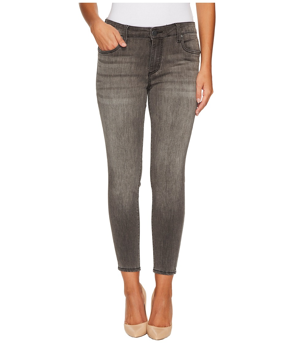 KUT from the Kloth Petite Donna High-Rise Ankle Skinny in Meritorious w/ Grey Base Wash (Meritorious/Grey Base Wash) Women