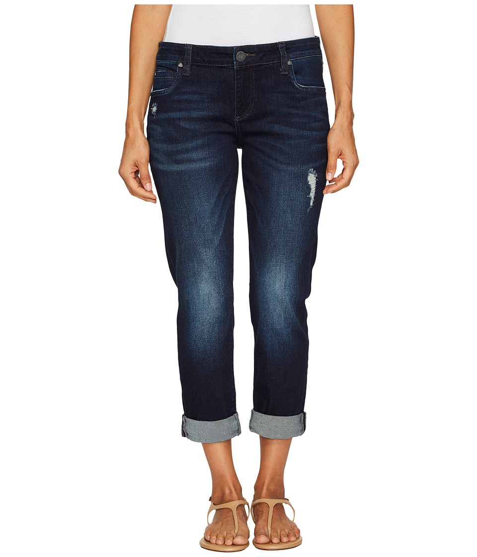 KUT from the Kloth Petite Catherine Boyfriend Five-Pocket in Vogue w/ Euro Base Wash (Vogue/Euro Base Wash) Women