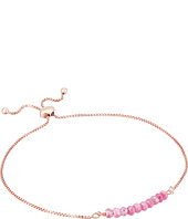 Dee Berkley - Friendship Adjustable Bracelet 14KT Rose Gold Plated Sterling Silver and Coated Quartz