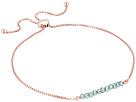 Dee Berkley Friendship Adjustable Bracelet 14KT Rose Gold Plated Sterling Silver and Coated Quartz