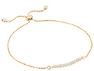 Dee Berkley - Friendship Adjustable Bracelet 14KT Gold Plated Sterling Silver and Coated Quartz