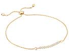 Dee Berkley Friendship Adjustable Bracelet 14KT Gold Plated Sterling Silver and Coated Quartz