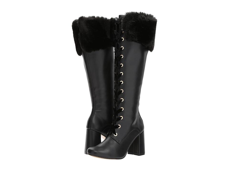 60s Shoes, Boots | 70s Shoes, Platforms, Boots Nanette nanette lepore - Flora Black Womens Shoes $139.00 AT vintagedancer.com