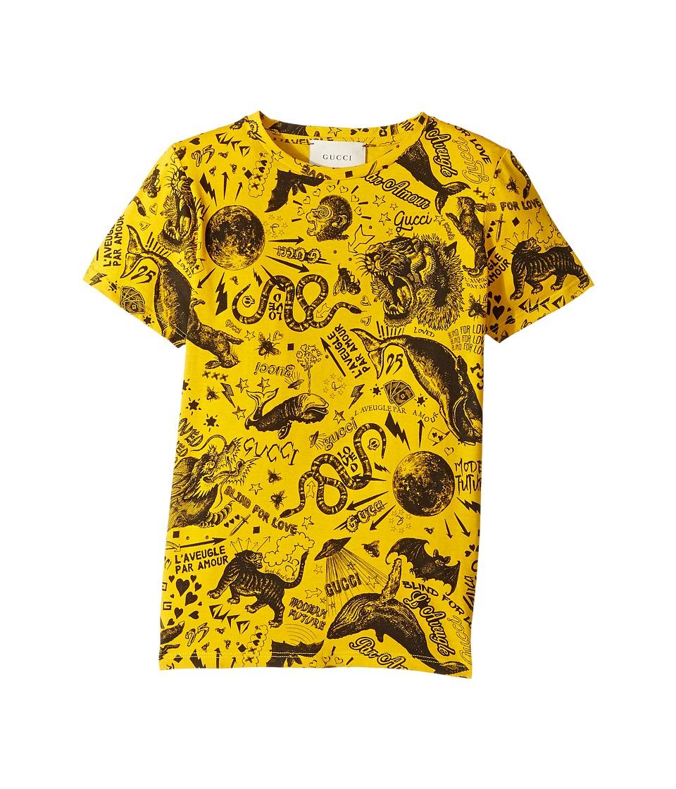 Gucci Kids - T-Shirt 475738X3G18 (Little Kids/Big Kids) (Honey Yellow/Black) Boys T Shirt