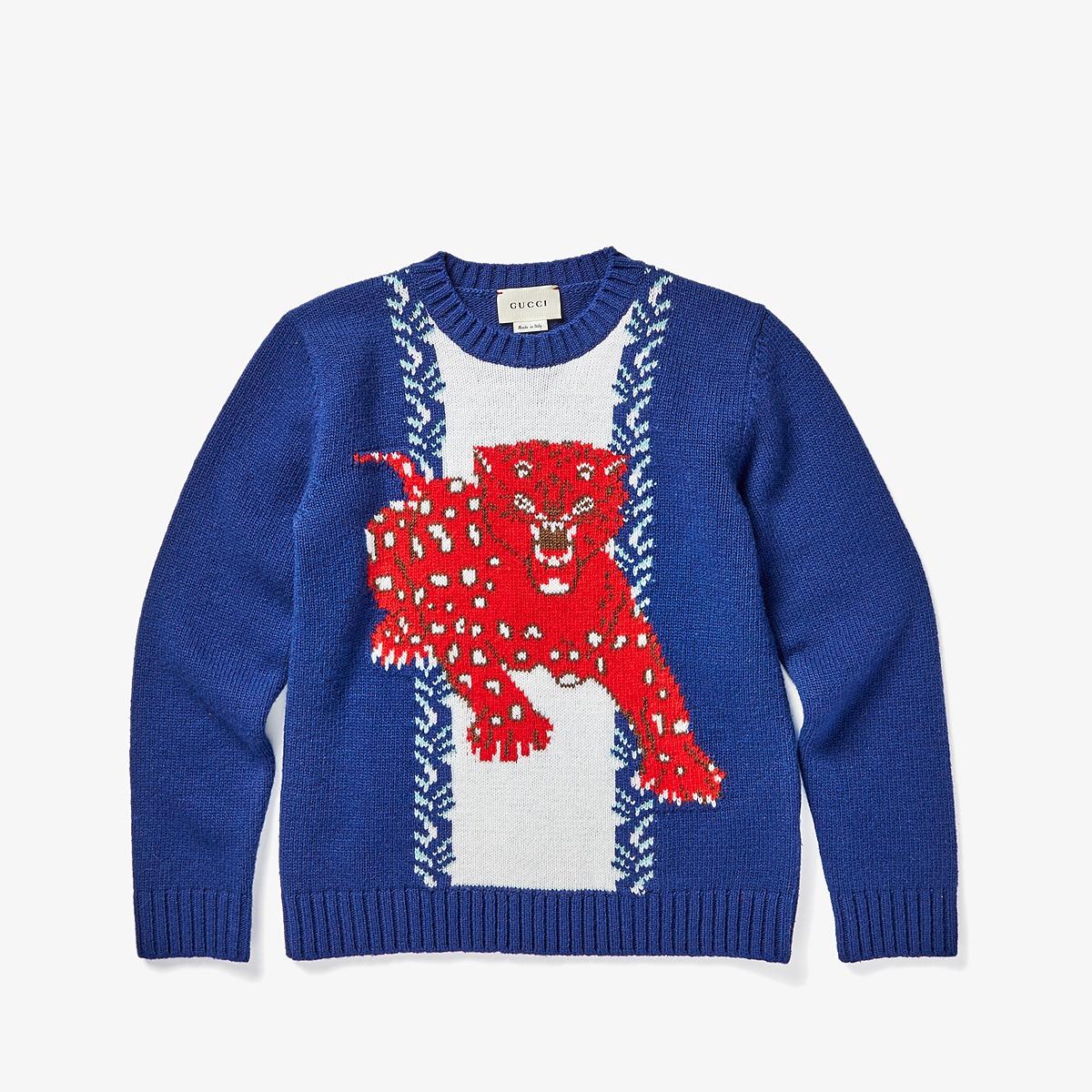 Gucci Kids - Knitwear 475584X1492 (Little Kids/Big Kids) (Indigo/Brown) Boys Clothing