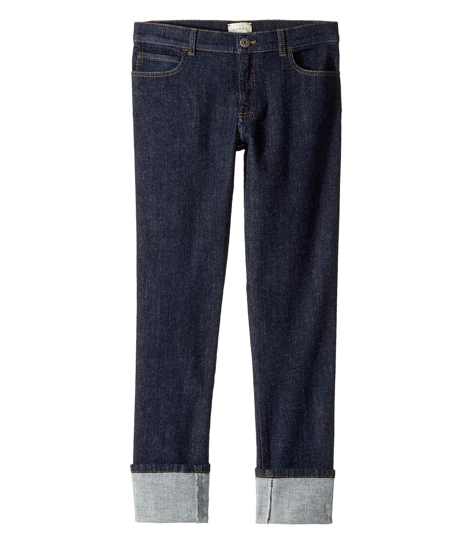Gucci Kids - Denim in Indigo/Green/Red 431161XR224 (Little Kids/Big Kids) (Indigo/Green/Red) Boys Jeans