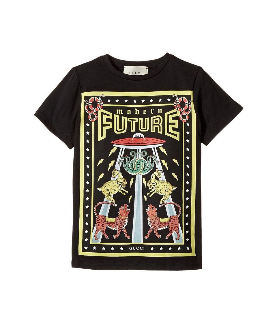 Gucci Kids - T-Shirt 475738X3G10 (Little Kids/Big Kids) (Black/Yellow) Boys T Shirt