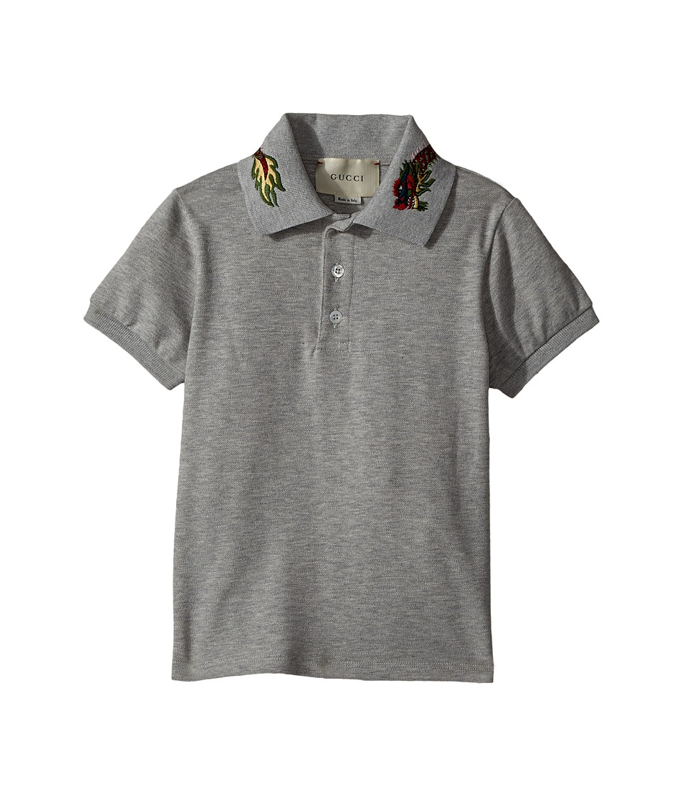 Gucci Kids - Polo 475711X5U29 (Little Kids/Big Kids) (Grey/Green/Red) Boys Short Sleeve Pullover