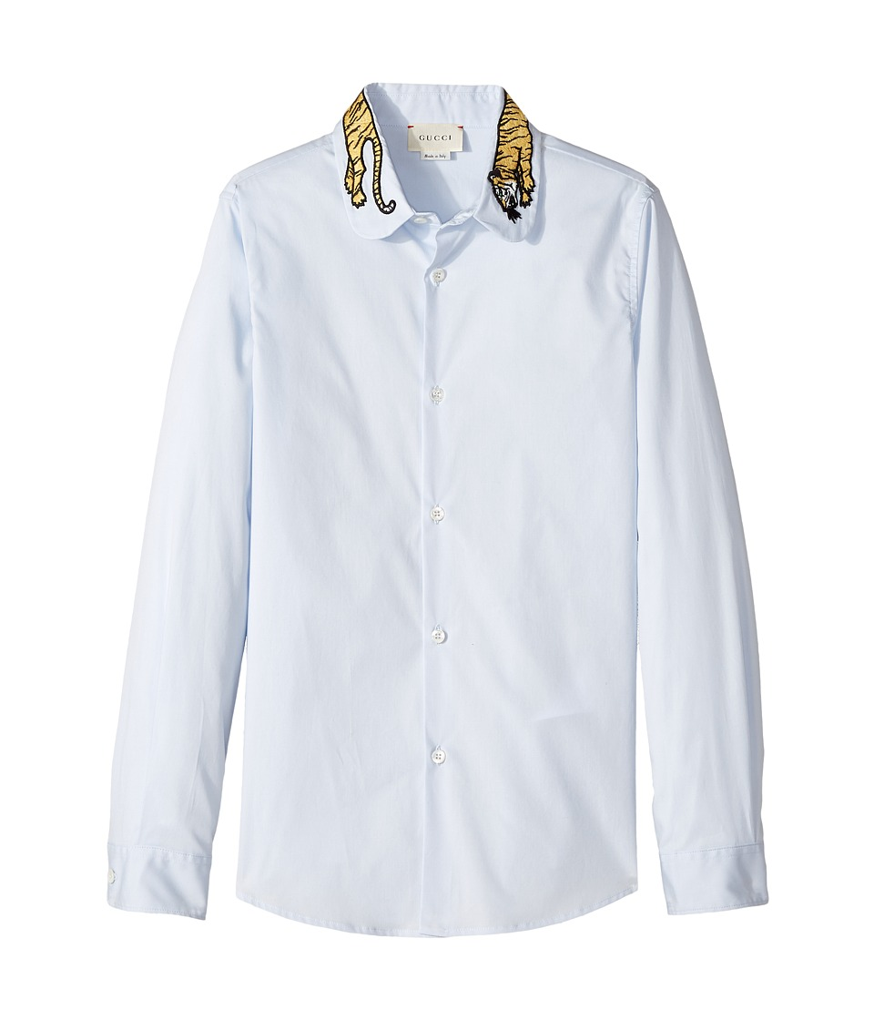 Gucci Kids - Shirt 479184XBB75 (Little Kids/Big Kids) (Pale Azure) Boys Clothing