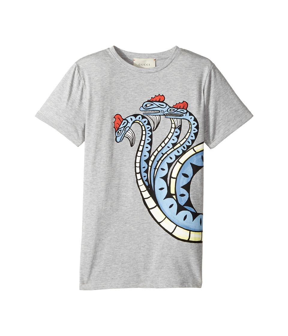 Gucci Kids - T-Shirt 475738X3G12 (Little Kids/Big Kids) (Azure/Red) Boys T Shirt