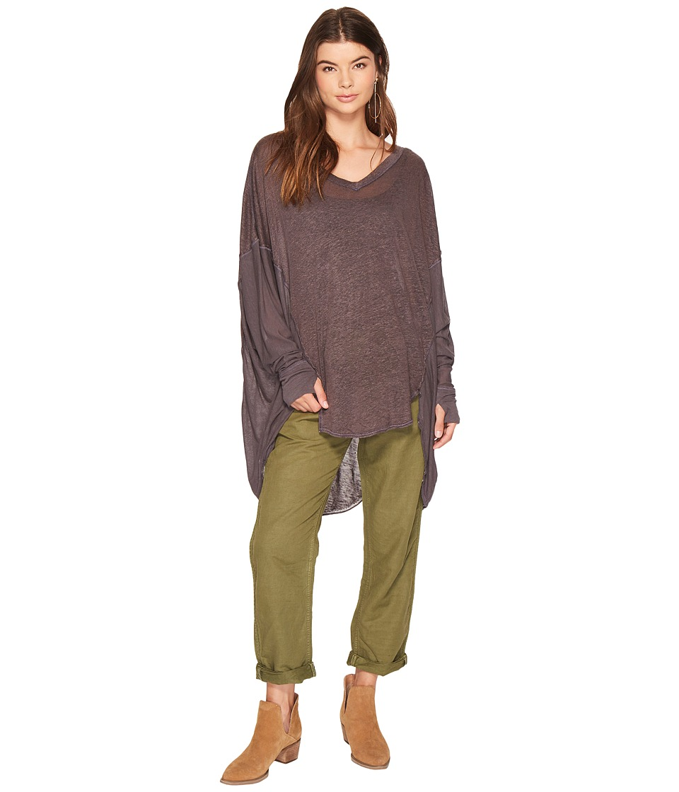 Free People Never Give Up Tee (Carbon) Women