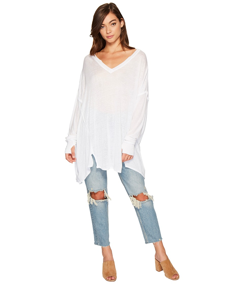 Free People Never Give Up Tee (White) Women