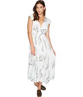 Free People - Printed Retro Midi Dress