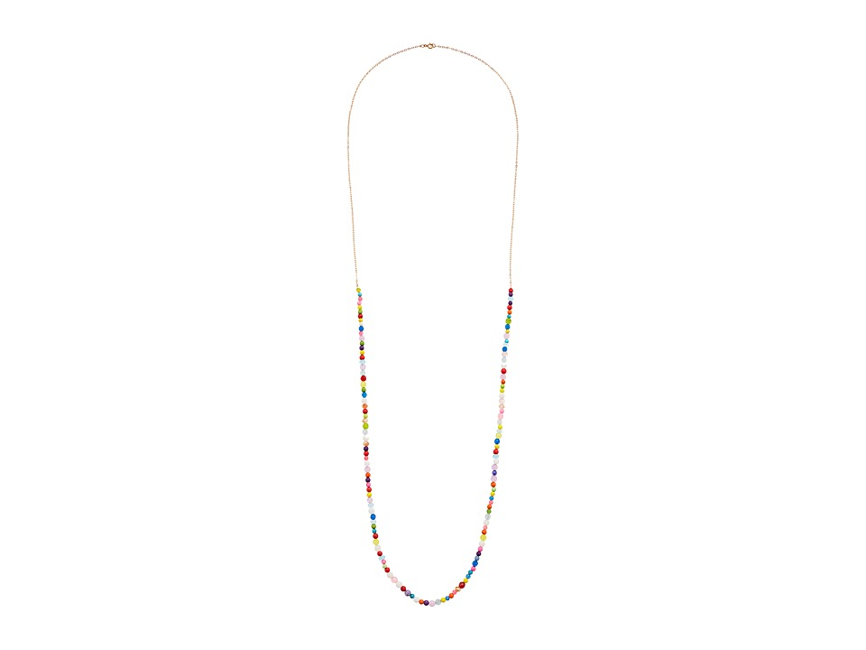 Dee Berkley Dee Berkley - Chakra Chain Necklace Sterling Silver with 14KT Gold Overlay and Gemstones