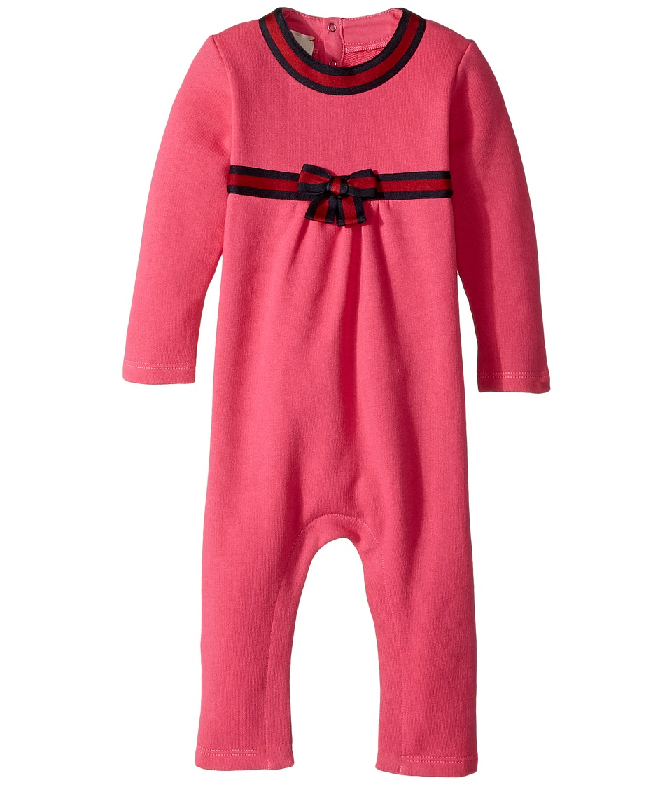 Gucci Kids - Sleep Suit 478385X9A79 (Infant) (Fuchsia/Blue) Girls Jumpsuit & Rompers One Piece