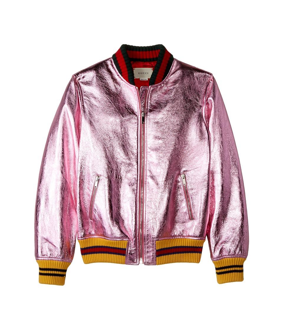 Gucci Kids - Leather 477954XG449 (Big Kids) (Rose/Multicolor) Girls Coat